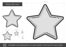 Music star line icon. Stock Images