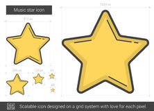 Music star line icon. Royalty Free Stock Photography