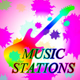Music Stations Means Recording Studio And Broadcast Stock Photography