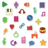 Music stickers Royalty Free Stock Photo