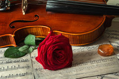 About music. Still life will decorate a living room, dining-room, out-of-town house Stock Image