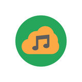 Music storage icon Stock Photography