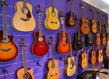 Music Store - Guitars Royalty Free Stock Image