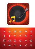 Music store icon set Stock Images