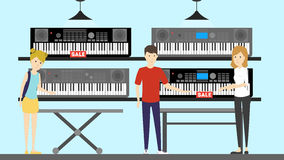 Music store interior. Royalty Free Stock Images
