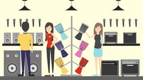 Music store interior. Royalty Free Stock Photography