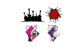 Music Store Solutions Set. Vector Stock Photos