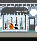 Music store. Royalty Free Stock Image
