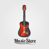 Music store vector logo vector illustration