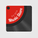 Music store vector logo Stock Photography