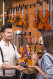 Music store Royalty Free Stock Photo