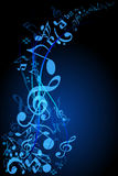 Music stream. Sound of Music, music concept background. Vector layered Stock Photos