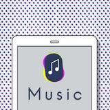 Music Streaming Multimedia Entertainment Art of Sound Concept.  royalty free illustration