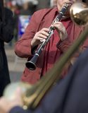 Music on the street: clarinet stock photography