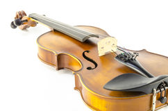 Music string instrument violin isolated on white. Background Stock Photos
