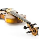 Music string instrument violin isolated on white Stock Photos