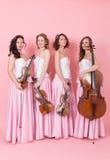 Music string quartet Royalty Free Stock Photo