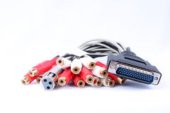 Music Studio Cables Royalty Free Stock Image