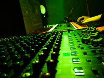Music studio. Music engineer working in the studio Royalty Free Stock Photography