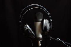 Music studio equipment. Music and record equipment Stock Photos