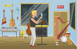 Music studio illustration. Royalty Free Stock Images