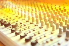 Music studio mix console Royalty Free Stock Photography