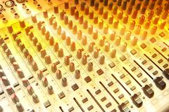 Music studio mix console Royalty Free Stock Image