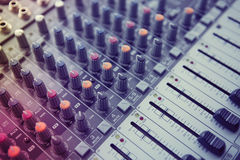 Music Studio Mixer Control Royalty Free Stock Images
