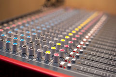 Music studio mixer detail Royalty Free Stock Photos