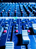 Music studio mixer. Music mixer working in the studio Stock Image