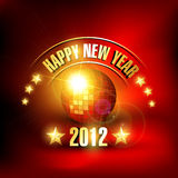 Music style new year. Music style happy new year vector background Stock Image