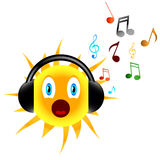Music sun Stock Photo