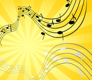 Music and sun Royalty Free Stock Photography