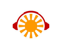 Music Sun Icon Logo Design Element Royalty Free Stock Photography