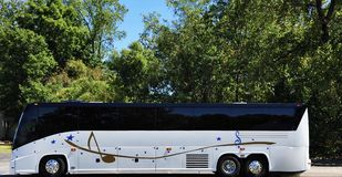 Music Superstar Tour Bus stock image