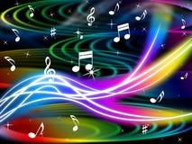 Music Swirls Background Shows Flourescent Musical And Tune. Music Swirls Background Showing Flourescent Musical And Tune Royalty Free Stock Photography