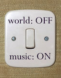 Music switch. Closeup of a music switch in the off position Royalty Free Stock Image