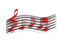 Music symbol. Isolated Music symbol with white background Stock Image