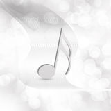 Music symbol  on  abstract  background Royalty Free Stock Photo