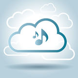 Music symbol design cloud broadcast vector illustration