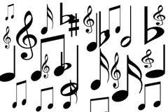 Music symbols stock illustration