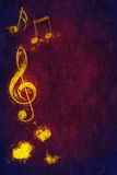Music symbols background. 2d illustration of a music symbols background Royalty Free Stock Photos