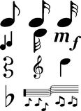 Music Symbols2. Collection of easy to use design icons Stock Image