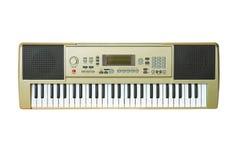 Music synthesizer closeup. Synthesizer isolated on white background Royalty Free Stock Images