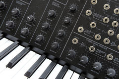Music synthesizer stock image
