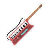 Music synthesizer guitar keyboard audio piano vector illustration. Royalty Free Stock Photo