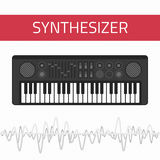 Music synthesizer icon Stock Photography