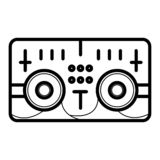 Music system icon royalty free illustration