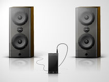 Music system Royalty Free Stock Photo