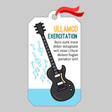 Music tag with guitar stock illustration
